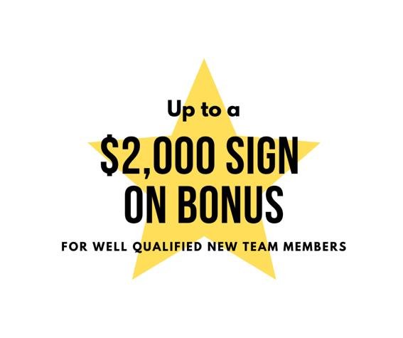$2000 Signup Bonus